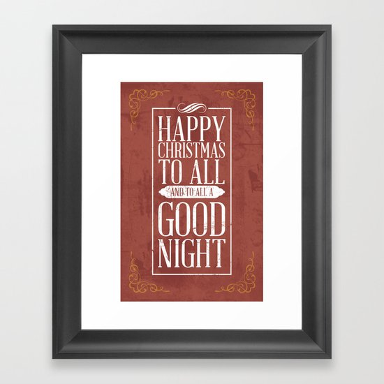 Happy Christmas Framed Art Print