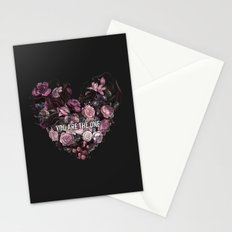 You Are The One // Floral Valentine's Heart Stationery Cards