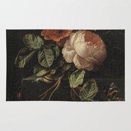 Elias van den Broeck - Still life with roses - 1670-1708 Rug