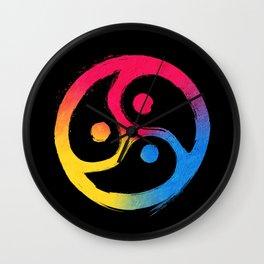 BDSM Triskelion Pansexual Pride Wall Clock