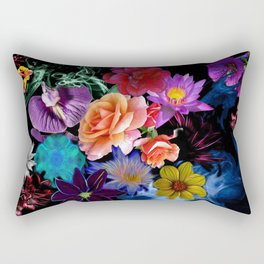 Colorful Fractal Flowers Rectangular Pillow