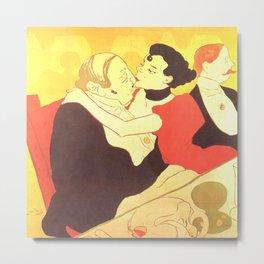 """Henri de Toulouse-Lautrec """"Reine de Joie"""" Metal Print"""