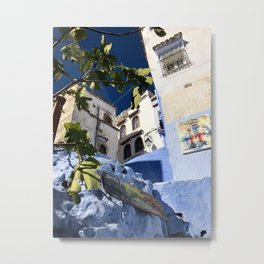 Figs & Steps, Chefchaouen, Morocco Metal Print