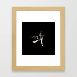 Empty my mind-sketch Framed Art Print