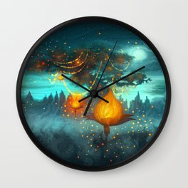 Magical lights Wall Clock