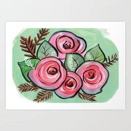 Roses for my Valentine Art Print