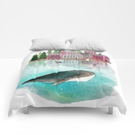 A whale is passing by Comforters