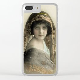 Pretty Victorian Girl Late 1800s Clear iPhone Case