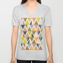 Colorful Geometric Triangle Pattern Unisex V-Neck