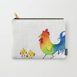 Little Rainbow Roosters Carry-All Pouch