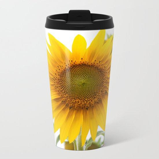 Sunflower #1 #decor #art #society6 Metal Travel Mug