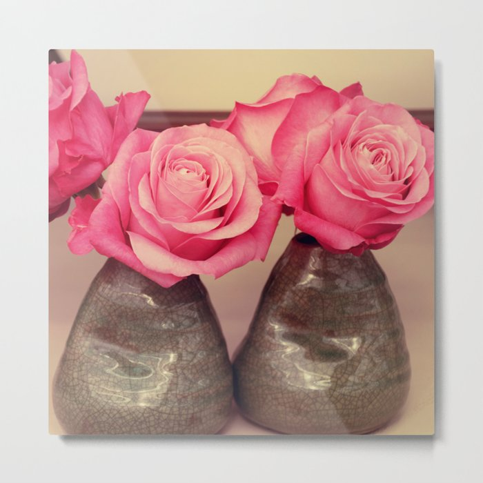 Gorgeous pink roses Metal Print