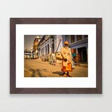 Sad baba Framed Art Print
