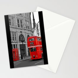 London Bus & Telephone Boxes. Stationery Cards