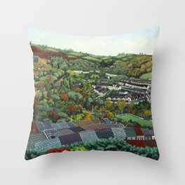 Pontypridd (featuring Sardis Road Rugby Ground) Throw Pillow