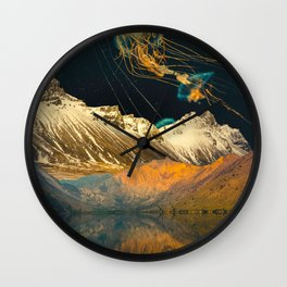 Collage Mountain17 Wall Clock
