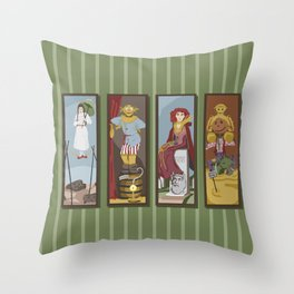 Return to Haunted Mansion Throw Pillow