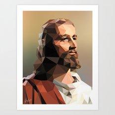 Jesus Christ – Polygon Art Print