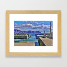 The Tide Is Out In The Harbour Framed Art Print