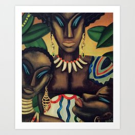 African American Masterpiece 'Africa' by Lois Jones Art Print