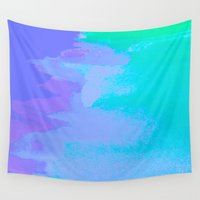 little mermaid Wall Tapestries featuring Little Mermaid by HollyJonesEcu