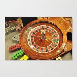 casino roulette wheel  Canvas Print
