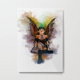 Gothic Steampunk Angel Metal Print