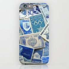 Vintage Postage Stamp Collection - 02 (Blues) Slim Case iPhone 6s