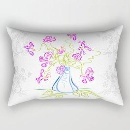 Bouquet of abstract flowers Rectangular Pillow