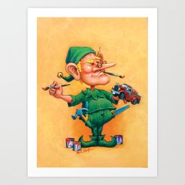 Elf Alexlander - Toys Department Art Print