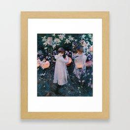 Carnation, Lily, Lily, Rose Framed Art Print