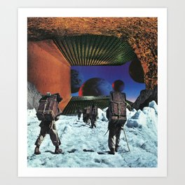 On The Ice Art Print