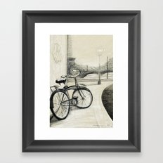 My Bike in New Brunswick Framed Art Print