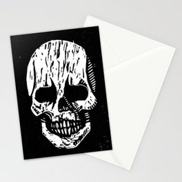 Woodcut Skull Stationery Cards