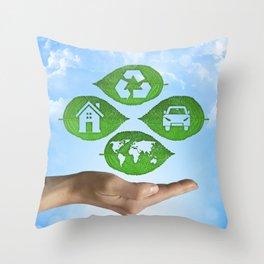 recycling eco concept Throw Pillow