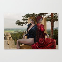 Beauty And Wickedness Canvas Print