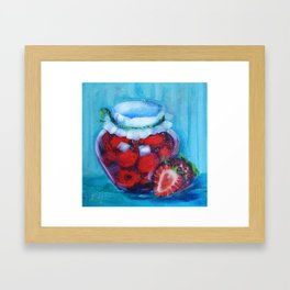 Jam jar Framed Art Print