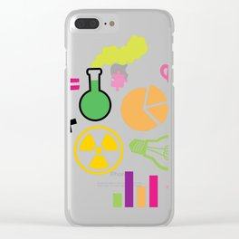 Neon Scientist Clear iPhone Case