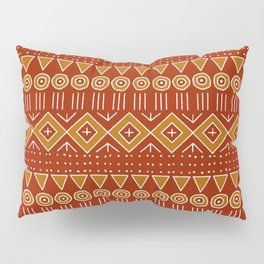 Mudcloth Style 2 in Red and Orange Pillow Sham