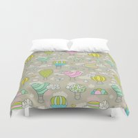 hot air balloons Duvet Covers featuring Hot air balloons by Anna Alekseeva kostolom3000