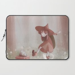 Little Forest Witch - Brown Laptop Sleeve