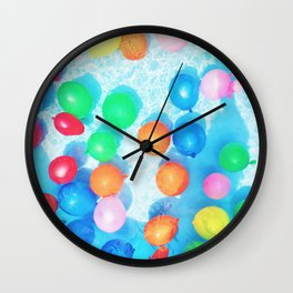 Celebratory Balloons Wall Clock