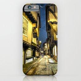 Starry Night In York Shambles Portrait iPhone Case