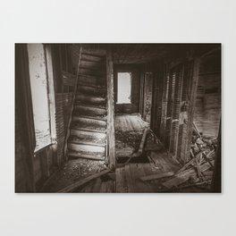 Stairs to the Attic, Rural North Dakota Canvas Print