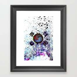in to the sky, circuit board (south korea) Framed Art Print