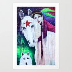 Green Pastures Receding Art Print