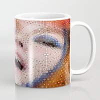 bjork Mugs featuring Bjork by Artstiles