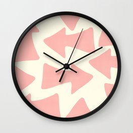 Peach Arrows on Pale Yellow Wall Clock