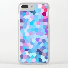 Bright Pastel Geometrics Clear iPhone Case