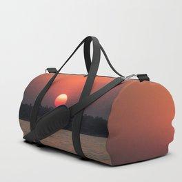 Really red sun Duffle Bag